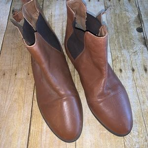 TOPSHOP WOMENS BROWN ANKLE BOOTS